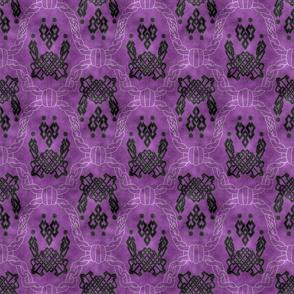 Knot more pawprints - Dark Plum dog paws