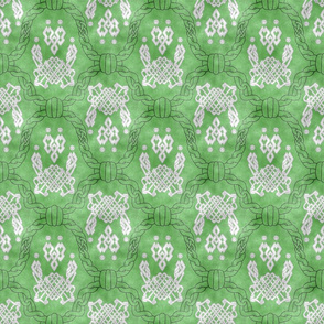Knot more pawprints - Spring Celtic dog paws