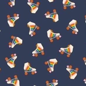 Rainbow Rollerskate Toss - Navy
