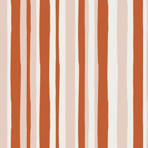 fall stripes - blush and cider - LAD19