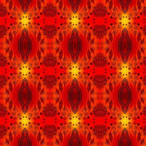 Tribal Sunset Red