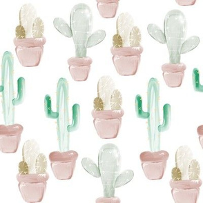 Water colour cacti