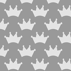 "2"" pale grey crowns on neutral grey"