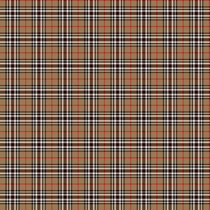 "Southdown tartan - 1"" tan/black/white"