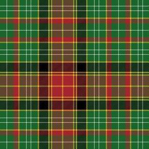 "Dalyrymple of Castleton tartan, 6"" green symmetrical"