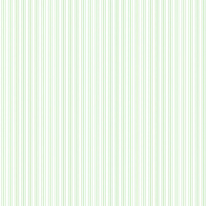 Classic Small Spearmint Mint Pastel Green French Mattress Ticking Double Stripes