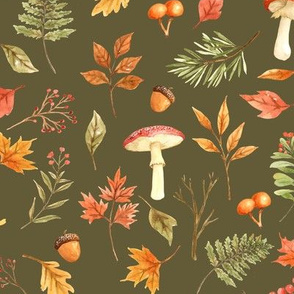 Fall Foliage // Olive Taupe