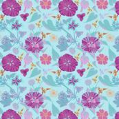 pink flowers linear-01