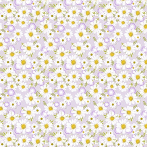 Purple Daisies - Small Scale