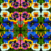 Pansies Abstract Pattern
