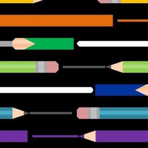 Artsist's Tools Multicolor on Black