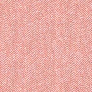 faux tweedy light coral herringbone tweed