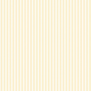 Classic Small Buttercup Yellow Pastel Butter French Mattress Ticking Double Stripes