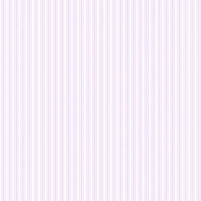 Classic Small Orchid Lilac Pastel Pale Purple French Mattress Ticking Double Stripes