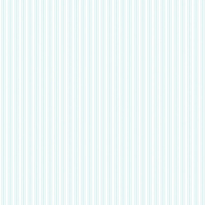 Classic Small Blue Lily Pastel Blue French Mattress Ticking Double Stripes