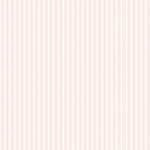 Classic Small Pink Rosebud Pastel Pink French Mattress Ticking Double Stripes