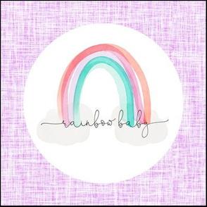 "8"" x 8"" // lilac rainbow baby"