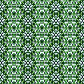 Green & White Diamond Flare