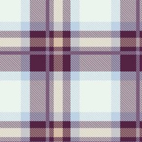 Purple and Magenta Plaid V.06