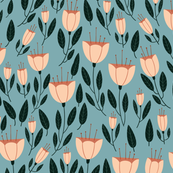 Tulip Floral - Blue