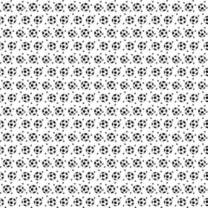 TINY - soccer fabric // soccer ball fabric black and white sports fabric soccer