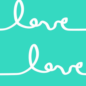 Mega Lovesong in Turquoise
