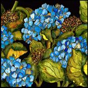 Blue Hydrangea Medium Scale