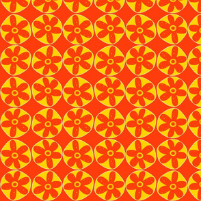 Hippie Blooms - Orange and Yellow