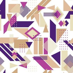 color blocks and dots - purple and tan