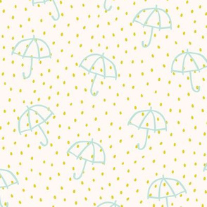 Springtime Baby Umbrella Teal Yellow