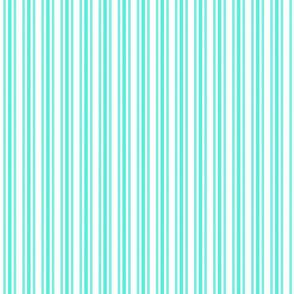 Trendy Large Aqua Gift Box Pastel Aqua French Mattress Ticking Double Stripes