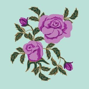 limited large rose expanded purple fixed