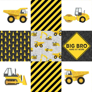Big Bro  - Construction Wholecloth - yellow and black - LAD19BS