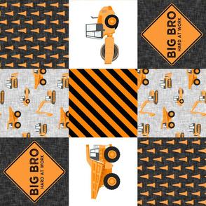 Big Bro  - Construction Wholecloth - orange and black (90) - LAD19BS