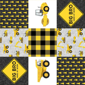 Big Bro  - Construction Wholecloth - yellow and black plaid (90) - LAD19BS