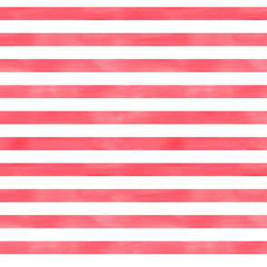 Watercolor Stripe in Red and White