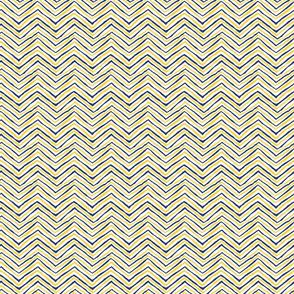 navy and gold zig zag small size