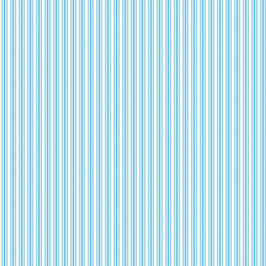 Classic Small Blue Sky Pastel Blue French Mattress Ticking Double Stripes