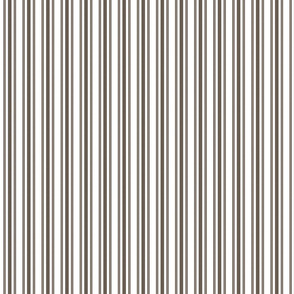 Trendy Large Brown Coco Pastel Brown French Mattress Ticking Double Stripes