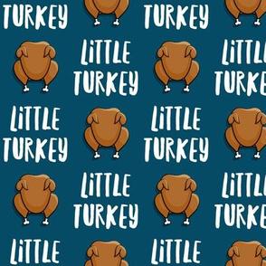 Little Turkey -  thanksgiving turkey - blue - LAD19