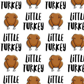 Little Turkey -  thanksgiving turkey - white  - LAD19