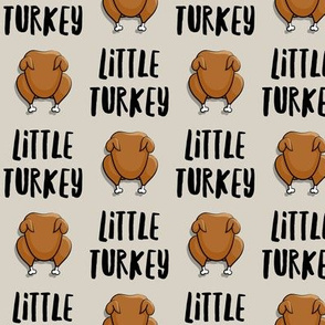 Little Turkey -  thanksgiving turkey - tan  - LAD19