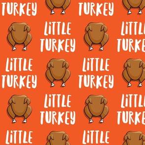 Little Turkey -  thanksgiving turkey - orange - LAD19
