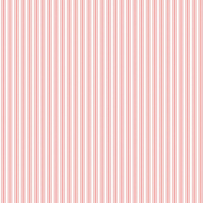 Classic Small Coral Rose Pastel Coral French Mattress Ticking Double Stripes