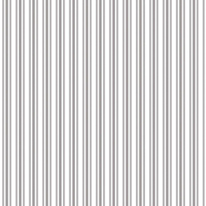 Trendy Large Grey Dovecote Pastel Grey French Mattress Ticking Double Stripes