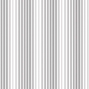 Classic Small Grey Dovecote Pastel Grey French Mattress Ticking Double Stripes