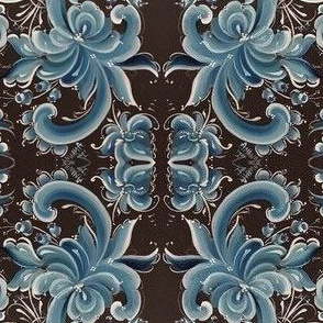 Blue rosemaling