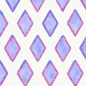 Electric Blue Pink Diamond