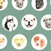 Watercolor Pups