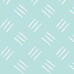 mudcloth freehand checkerplate - mint